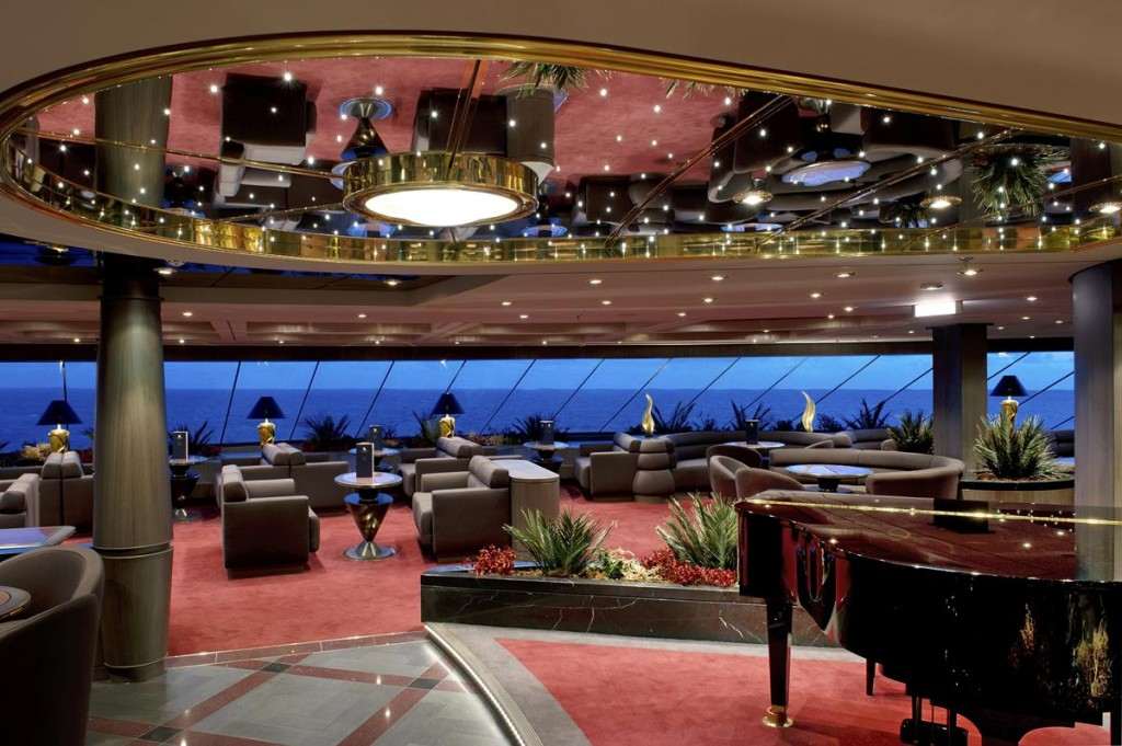 One Sail Lounge in the MSC Yacht Club on MSC Divina: Photo Courtesy of MSC Cruises