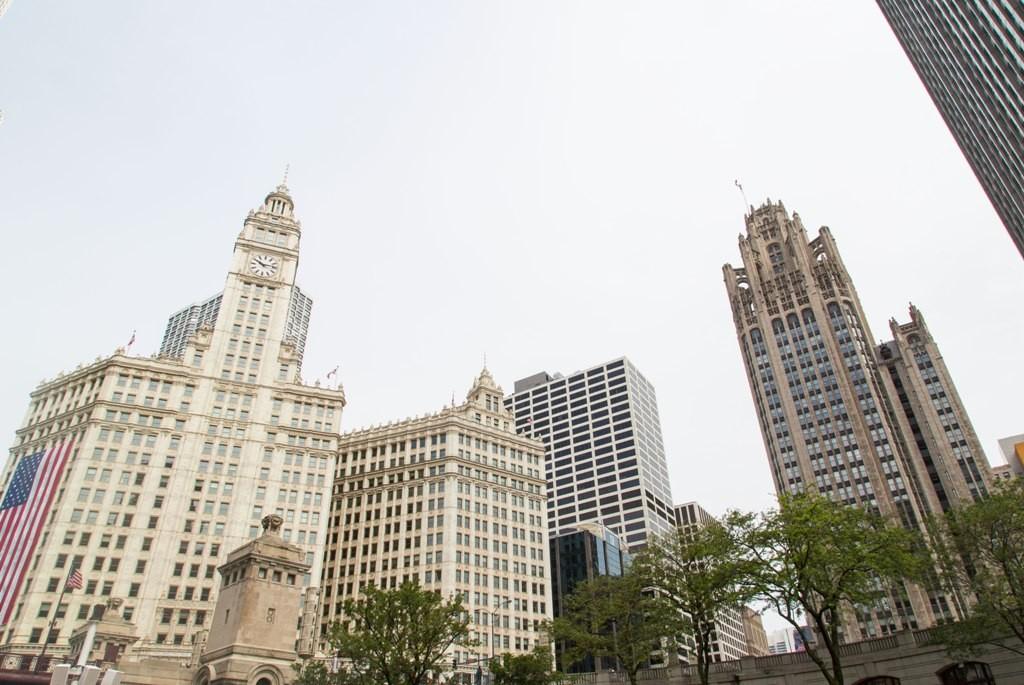 Tribune Tower on the right. Credit: Nicole Katzman