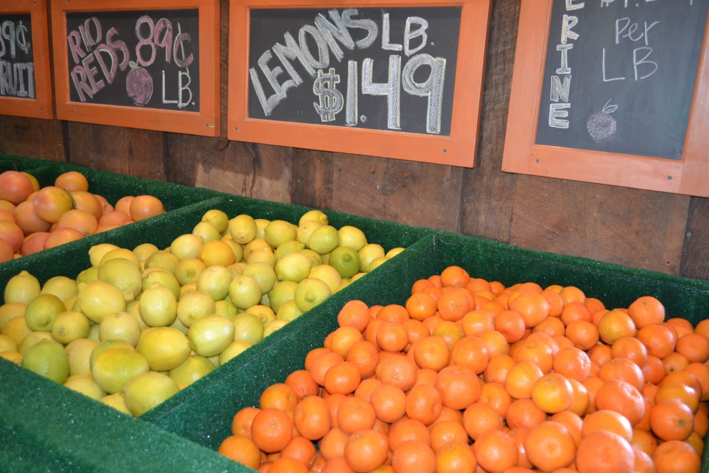 Fresh oranges and lemons right off the tree are offered at the Orange Patch, the original citrus grower in the Phoenix area by Don Heimburger