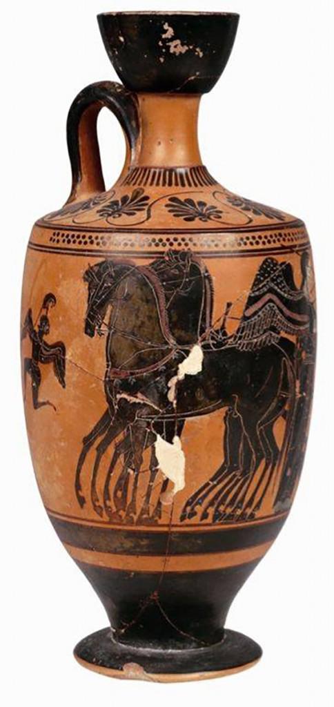 11A. Achilles Avenging Patroclus Clay Vase