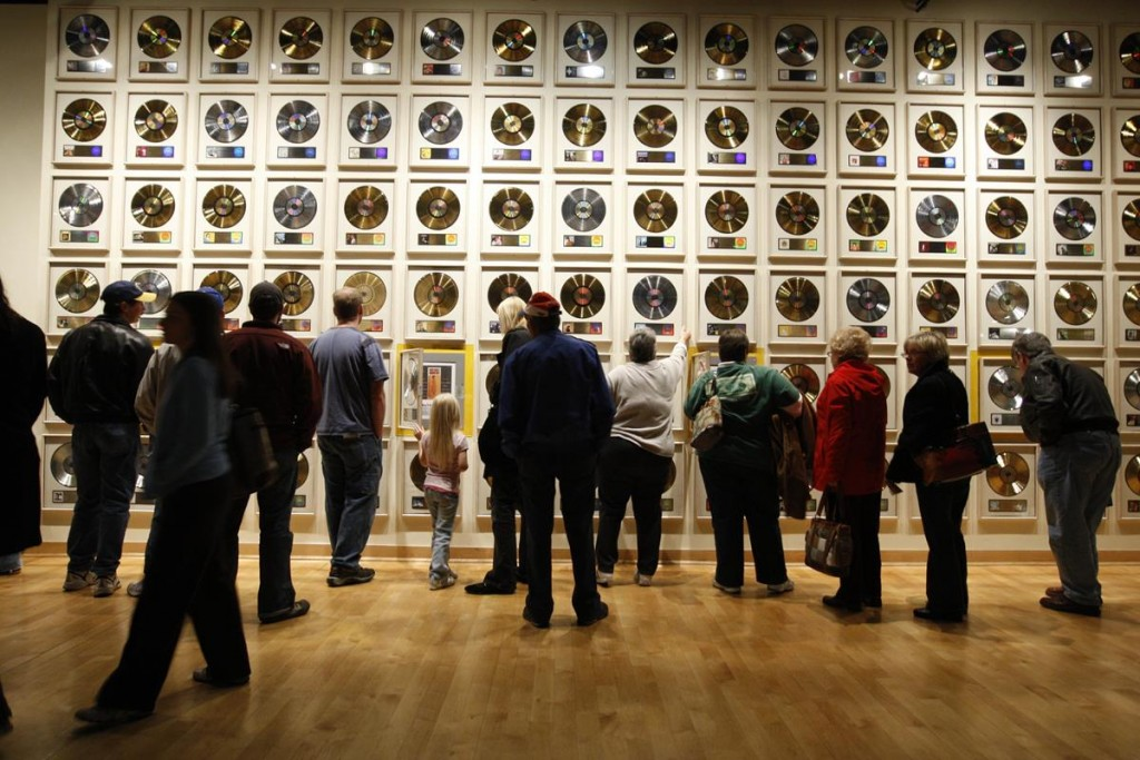 Country Music Hall of Fame record wall