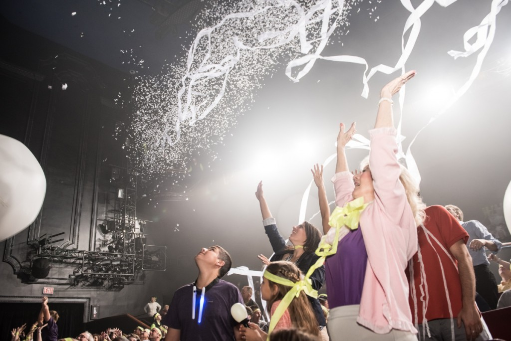 confetti on audience