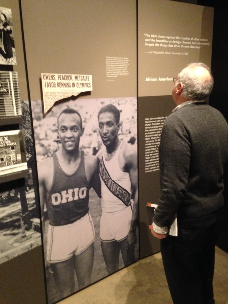 U.S. athletes Jessie Owens and Ralph Metcalfe were stars of the Berlin Olympics.