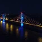 Overview of Bridge at Nighttime