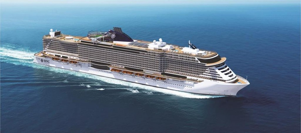 Exterior View of the MSC Seaside