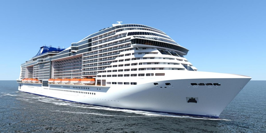 Exterior View of the MSC Meraviglia photo courtesy of MSC Cruises