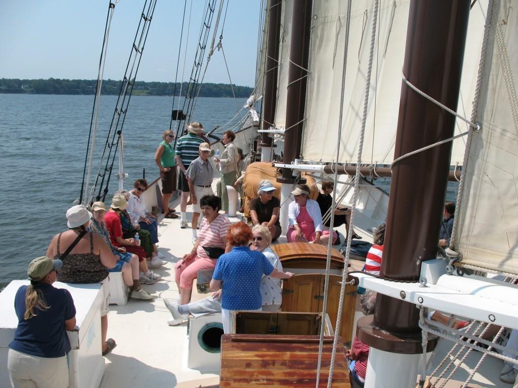 Group on ship