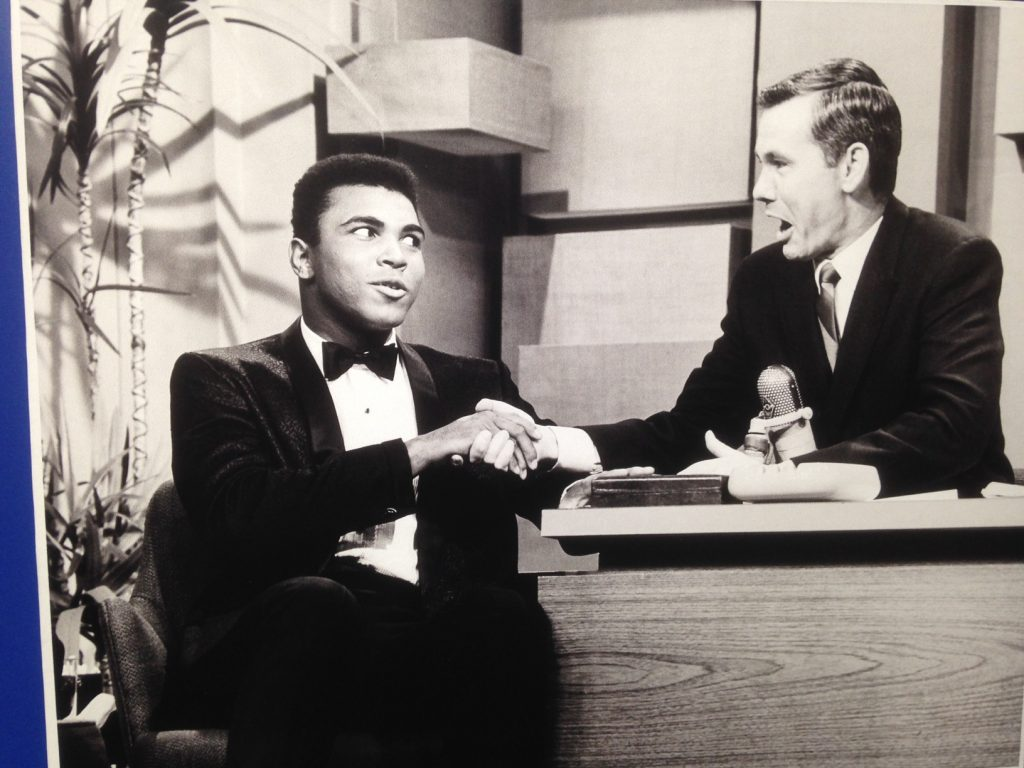 Johnny Carson with Muhammad Ali