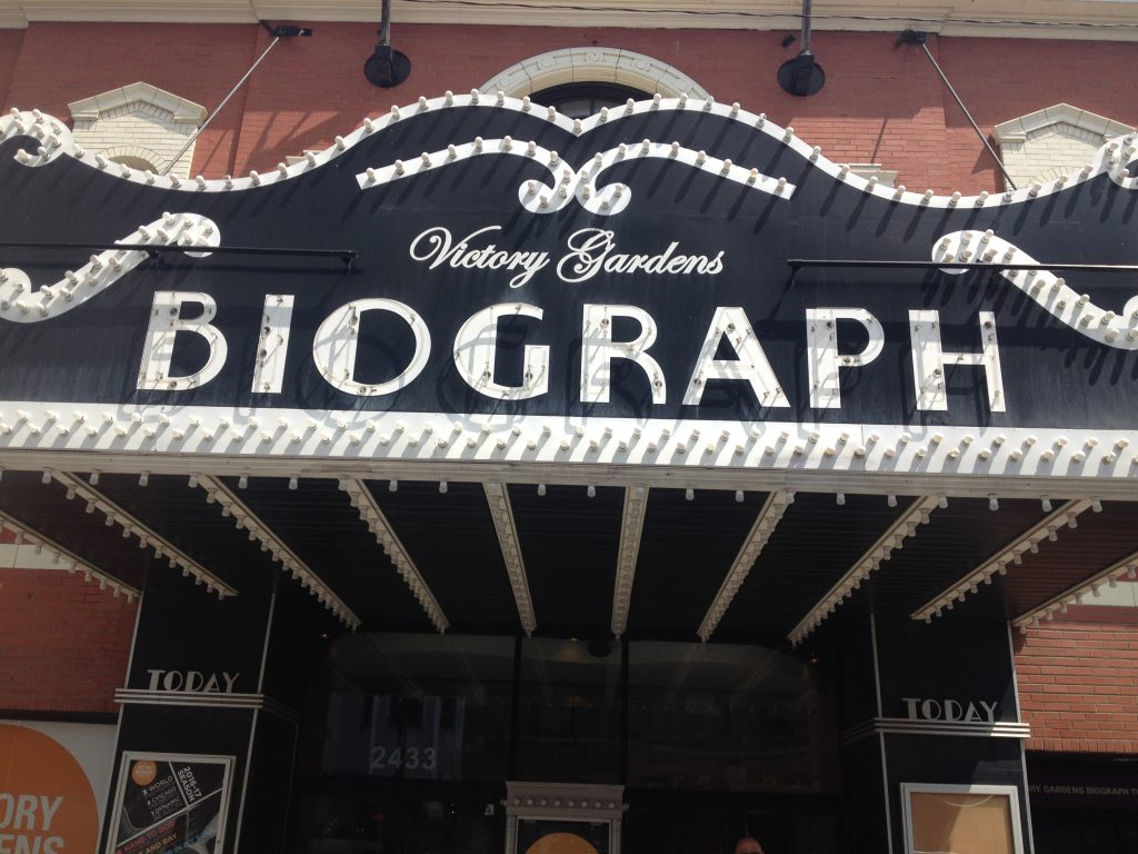 The Biograph Theater's original marquee from the day Dillinger was shot. Photo Credit: Ally Mahoney