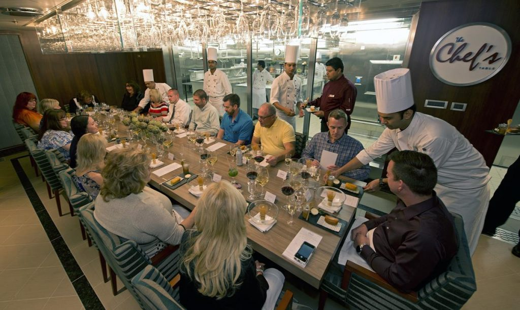 The Chef's Table on the Carnival Vista (photo courtesy of Carnival Cruise Line)