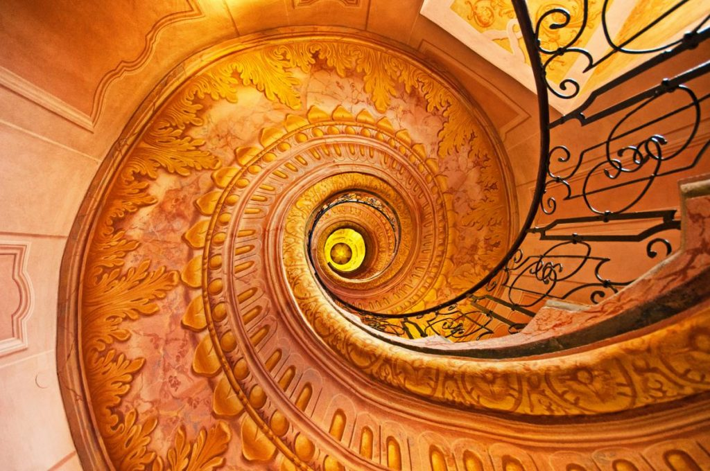 Stairs in Melk abbey, Austria