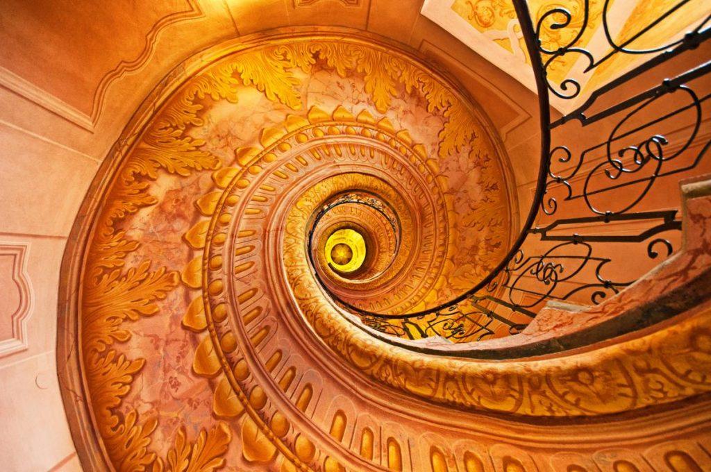Stairs in Melk abbey, Austria
