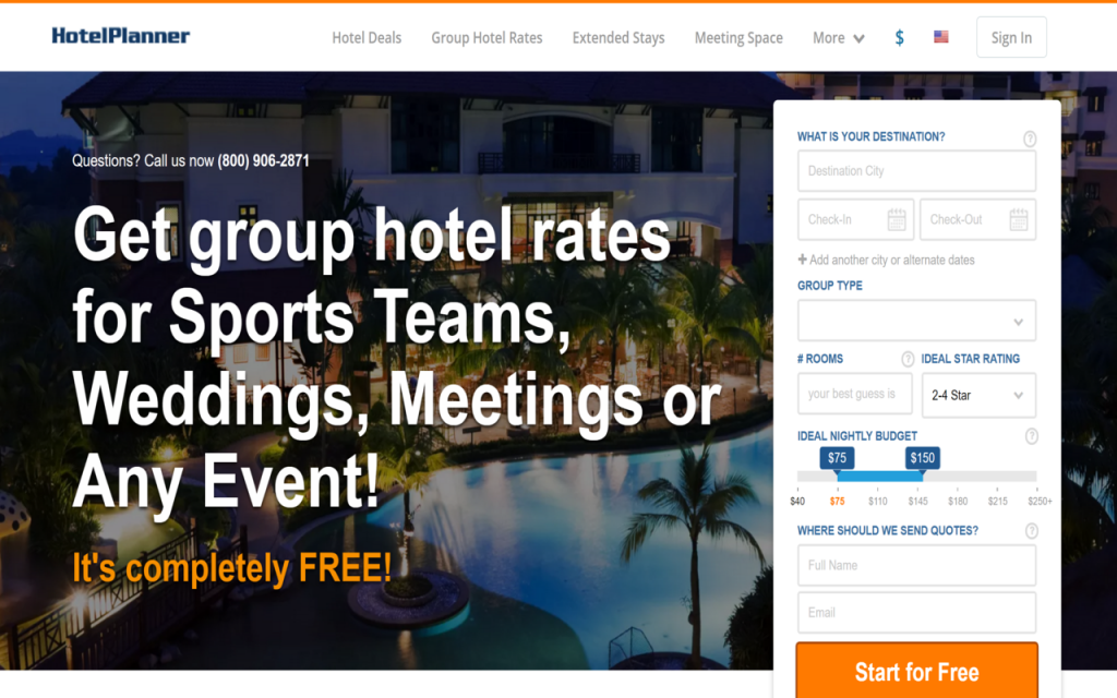 Hotelplanner Group Form