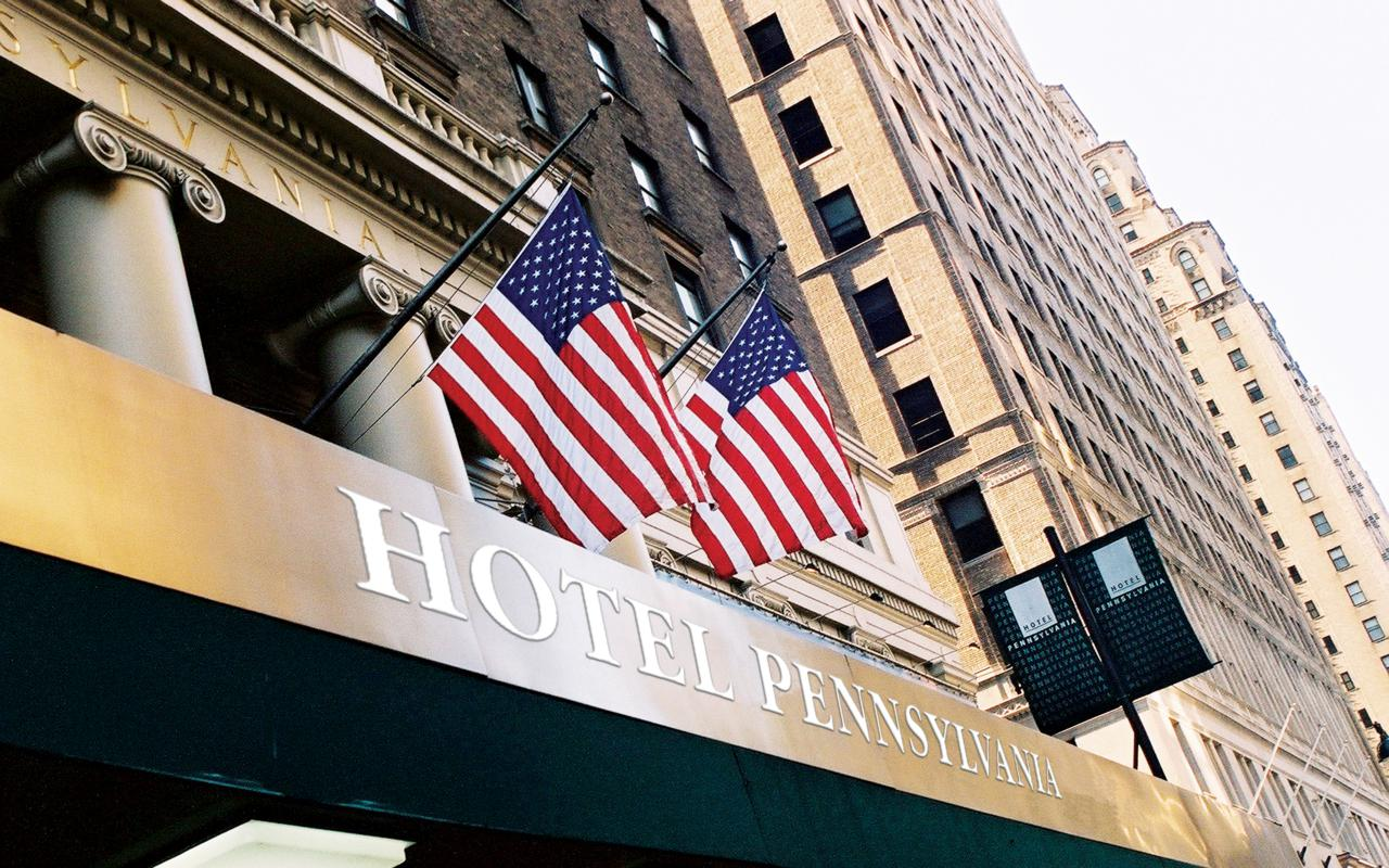 Checking in at New York's Hotel Pennsylvania