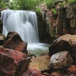 winniwissa falls at pipestone national monument