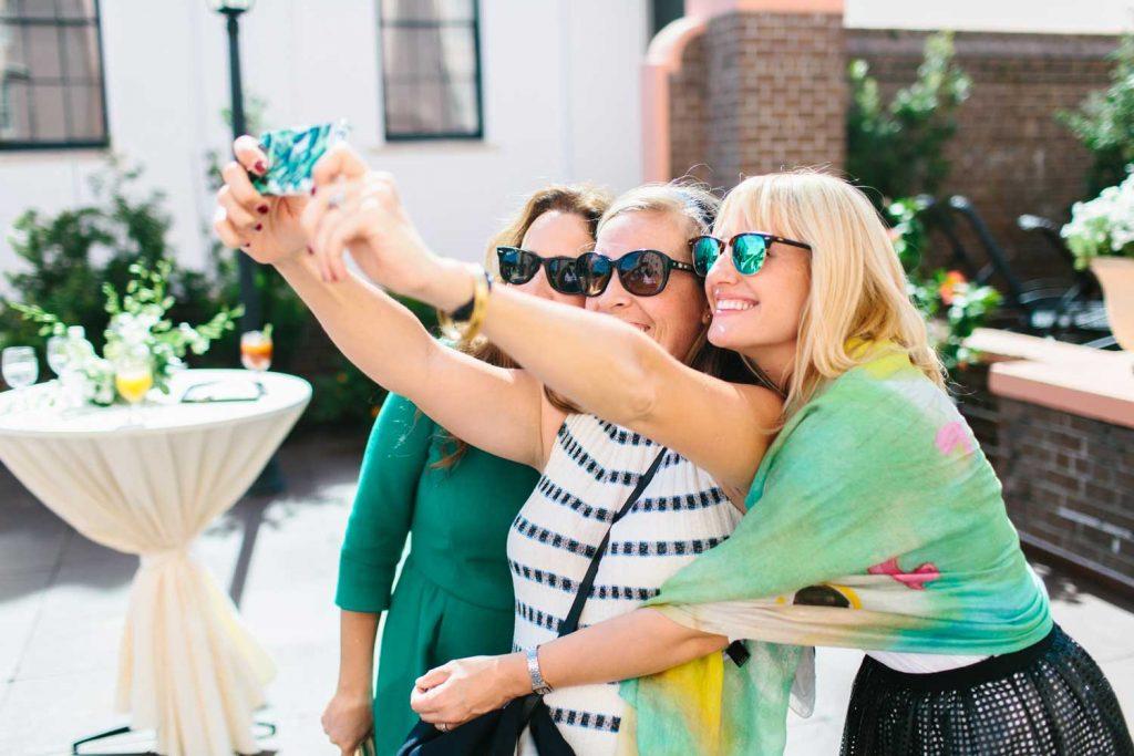 Selfie break during a culinary itinerary in Charleston, South Carolina