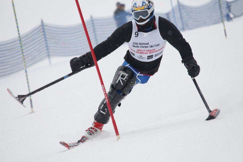 1 leg skier