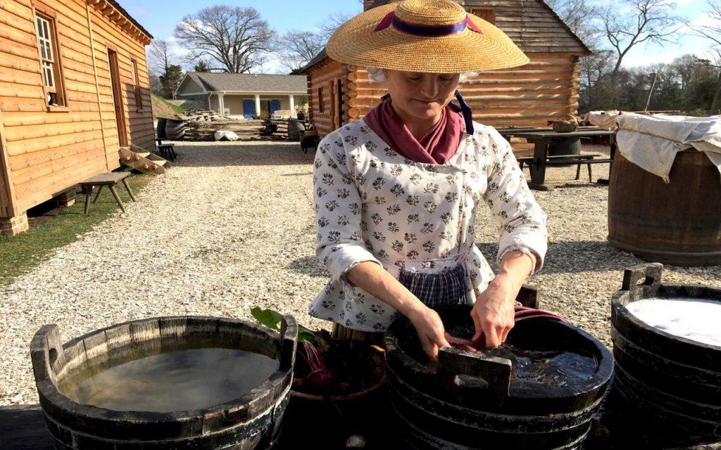ARM-Y Revolution-era farm - washing vegetables