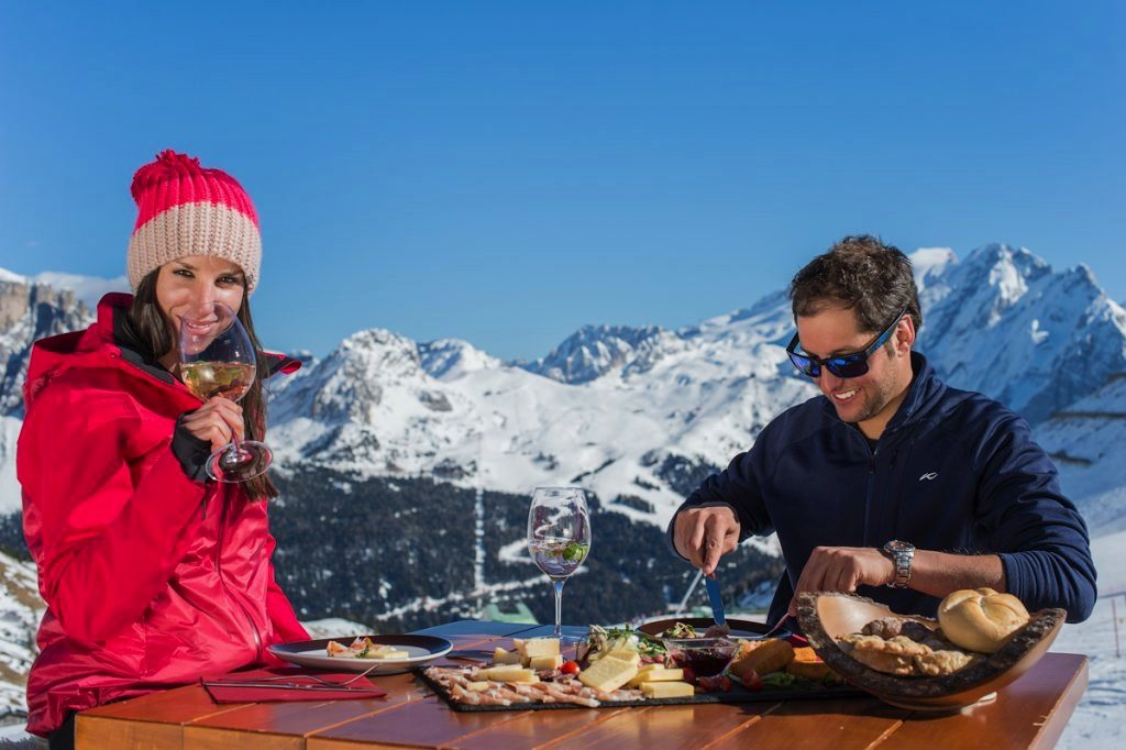 meal on a mountain
