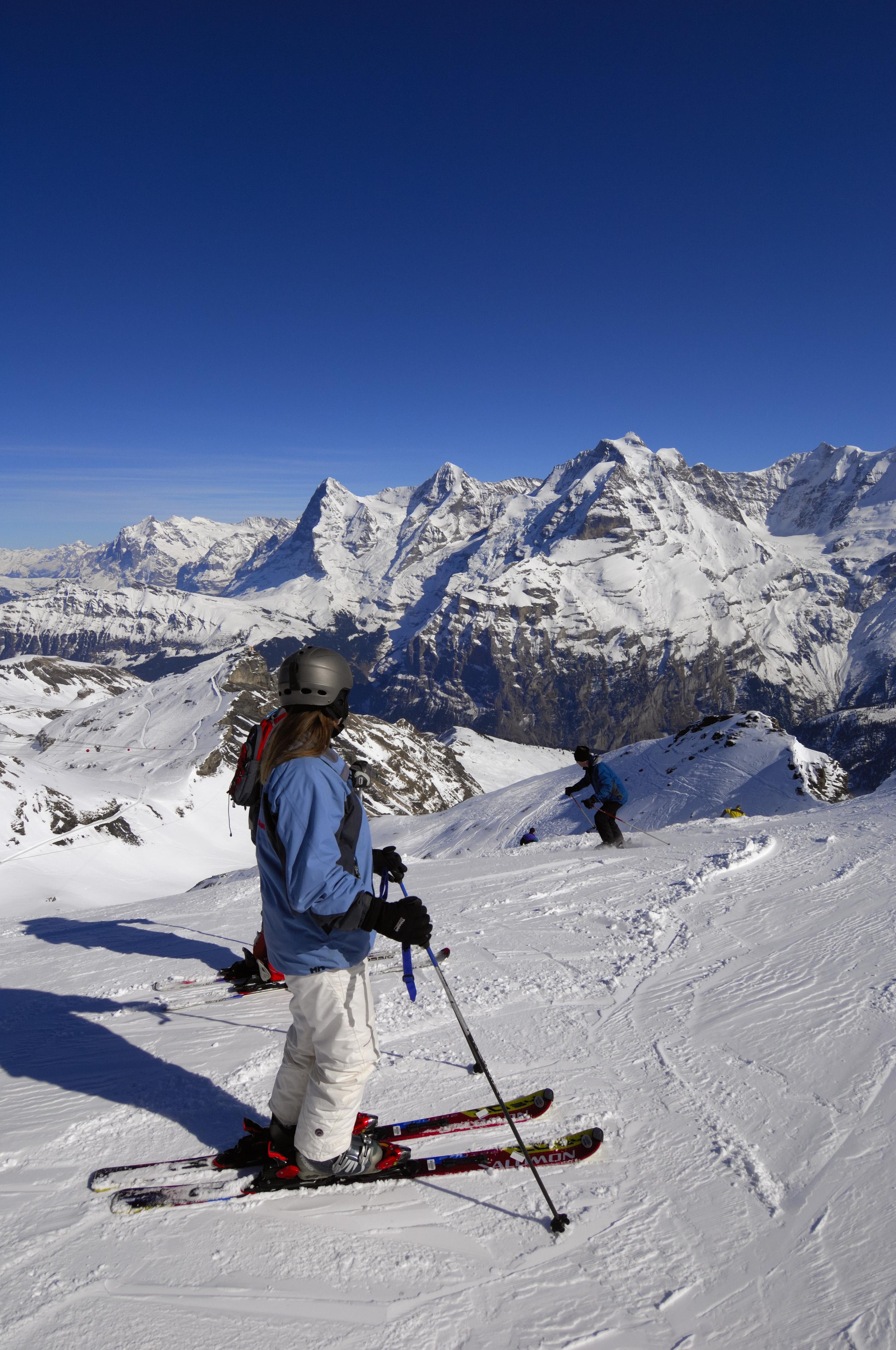 Skiing-Mirren-Schilthorn
