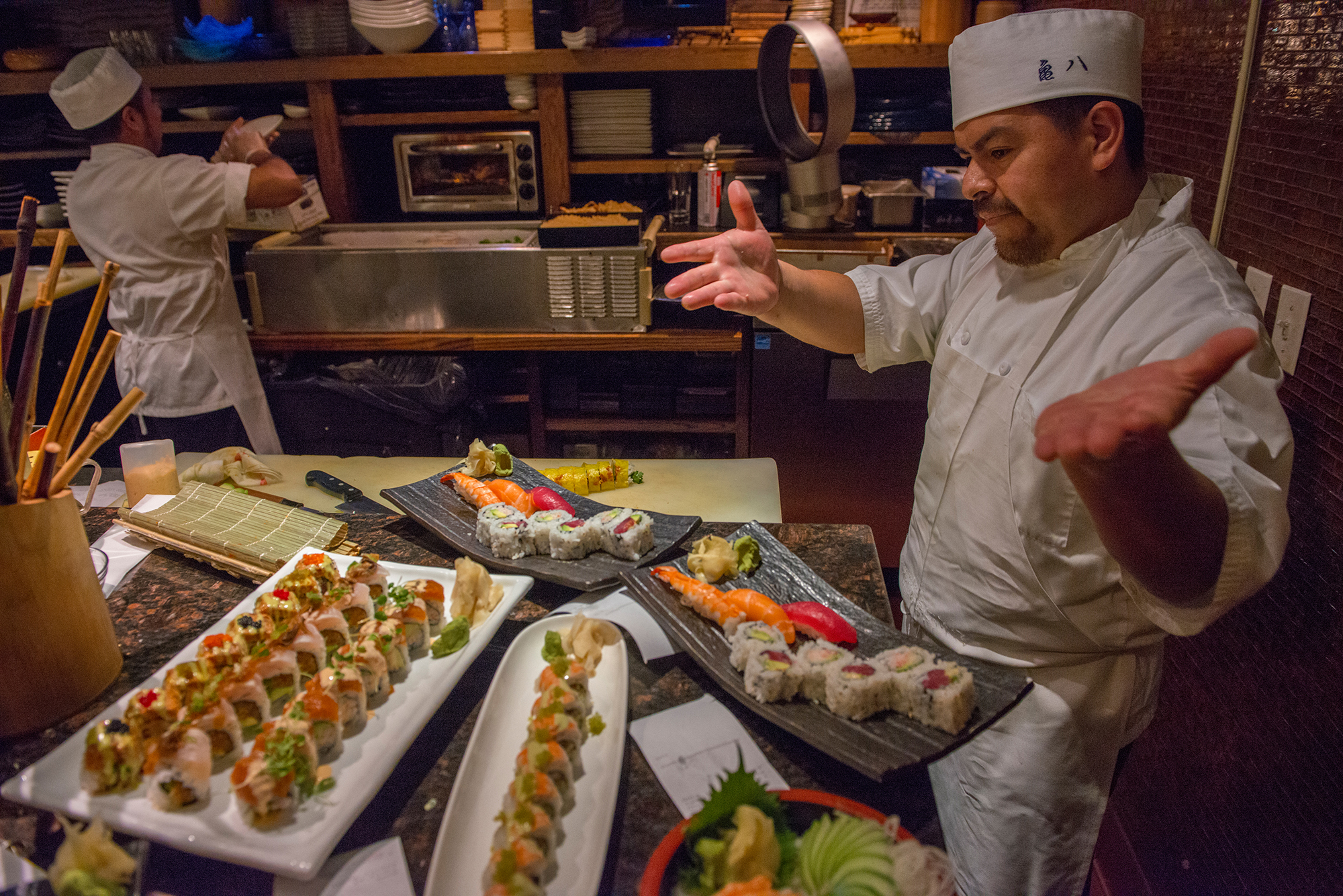 Sushi prep on Chicago Food Tours
