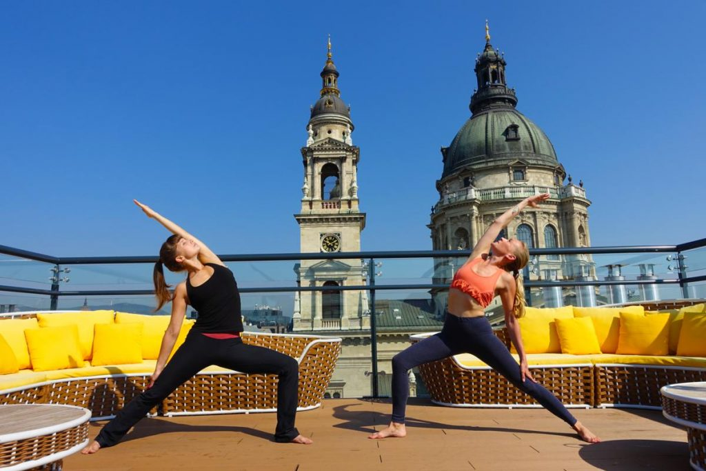 Aria Hotel Yoga on Rooftop