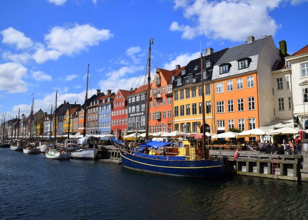 Copenhagen's colorful Nyhavn district