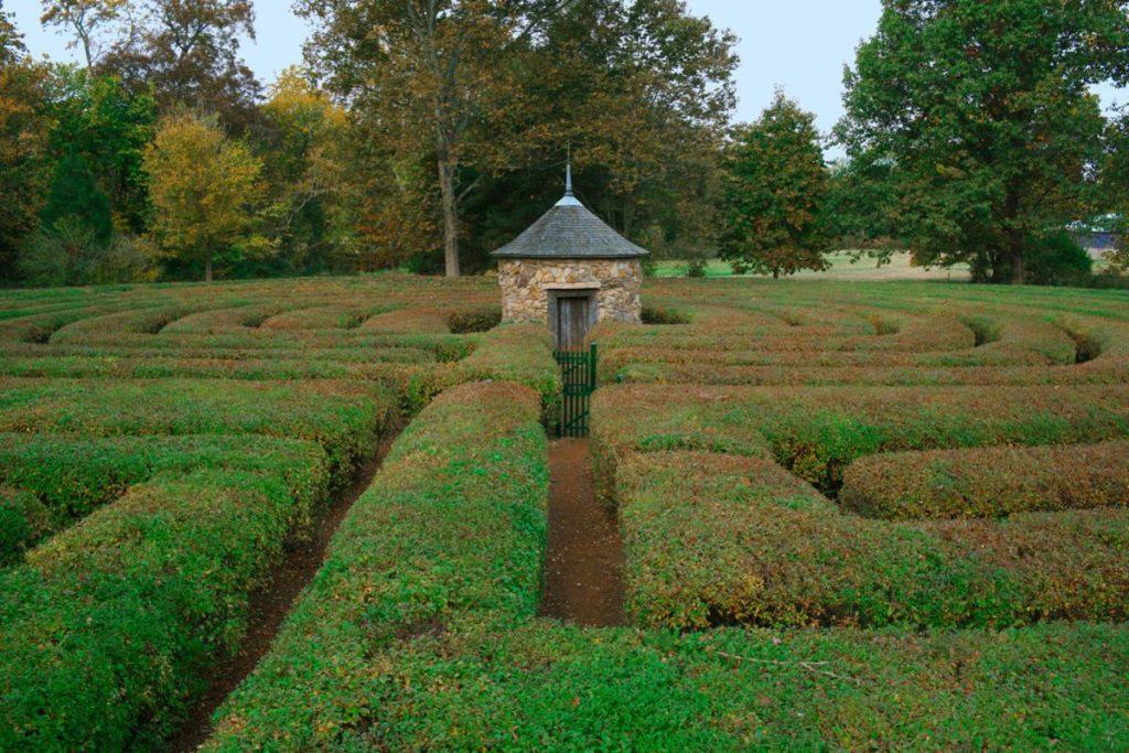 Harmonist Labyrinth in New Harmony, Indiana