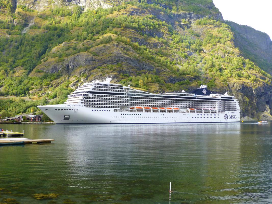 MSC Magnifica in Flam, Norway