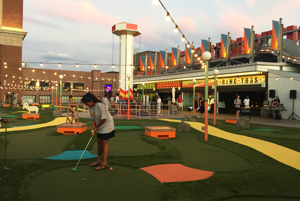 Rooftop mini golf at Ponce City Market