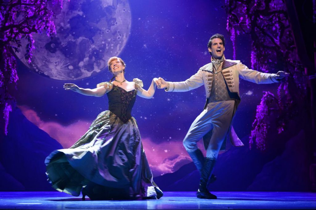 Disney Theatrical Patti Murin (Anna) and John Riddle (Hans) in FROZEN. Photo by Deen van Meer_1202x800