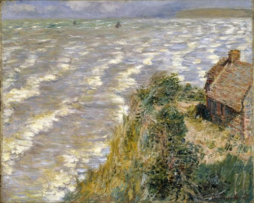 Monet's Rising Tide at Pourville, 1882