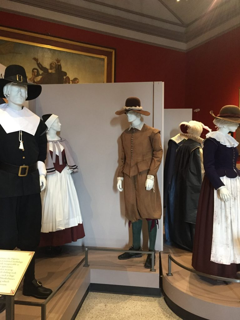 Pilgrim Costumes Historically Accurate and Imagined, Image Courtesy of Pilgrim Hall Museum, Plymouth Massachusetts.