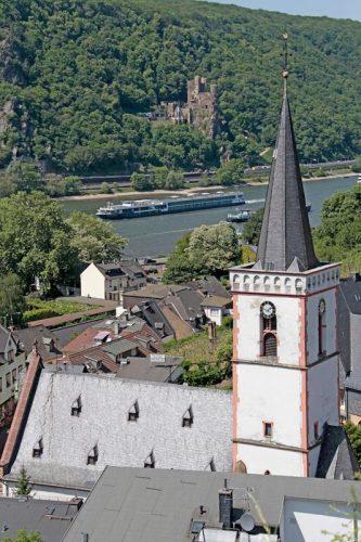 Assmannshausen Northwest of Rudesheim on the Rhine in Germany.