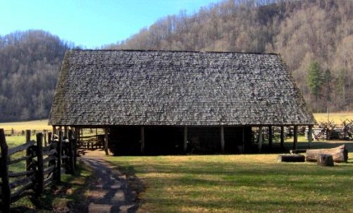 Enloe Barn at the Oconaluftee Mountain Farm Museum