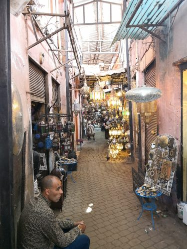 Deep in the medina of Marrakech lie both treasures and knockoffs, so travelers should shop wisely. Expect to haggle over price.