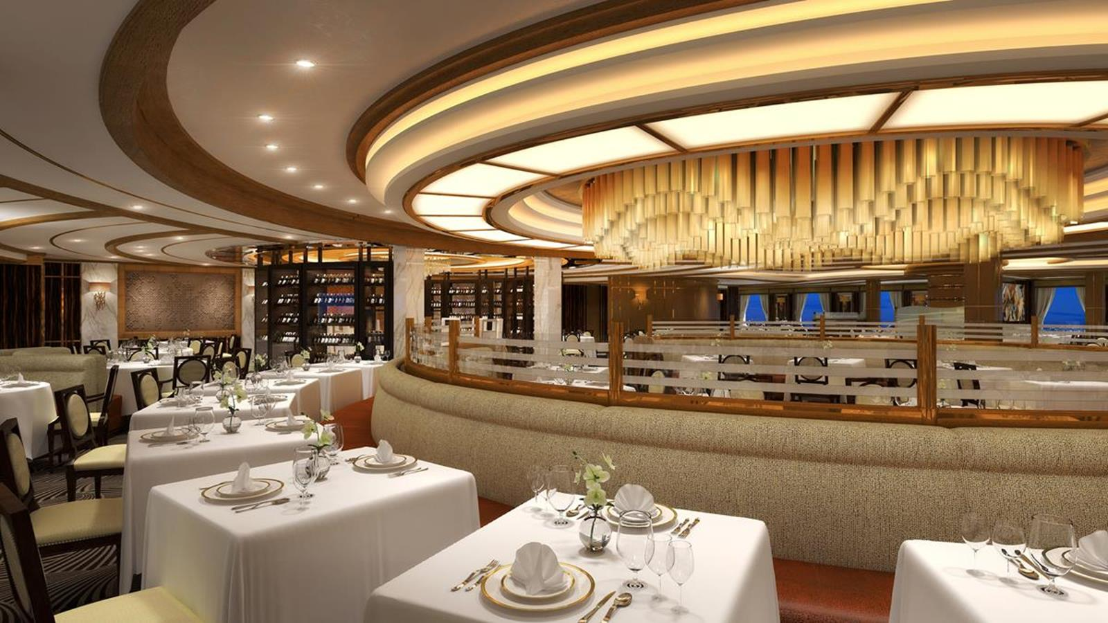 Sky Princess Main Dining Room By Cindy Bertram cindy@ptmgroups.com
