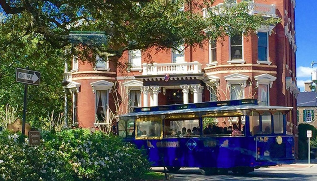 Open air trolley tour
