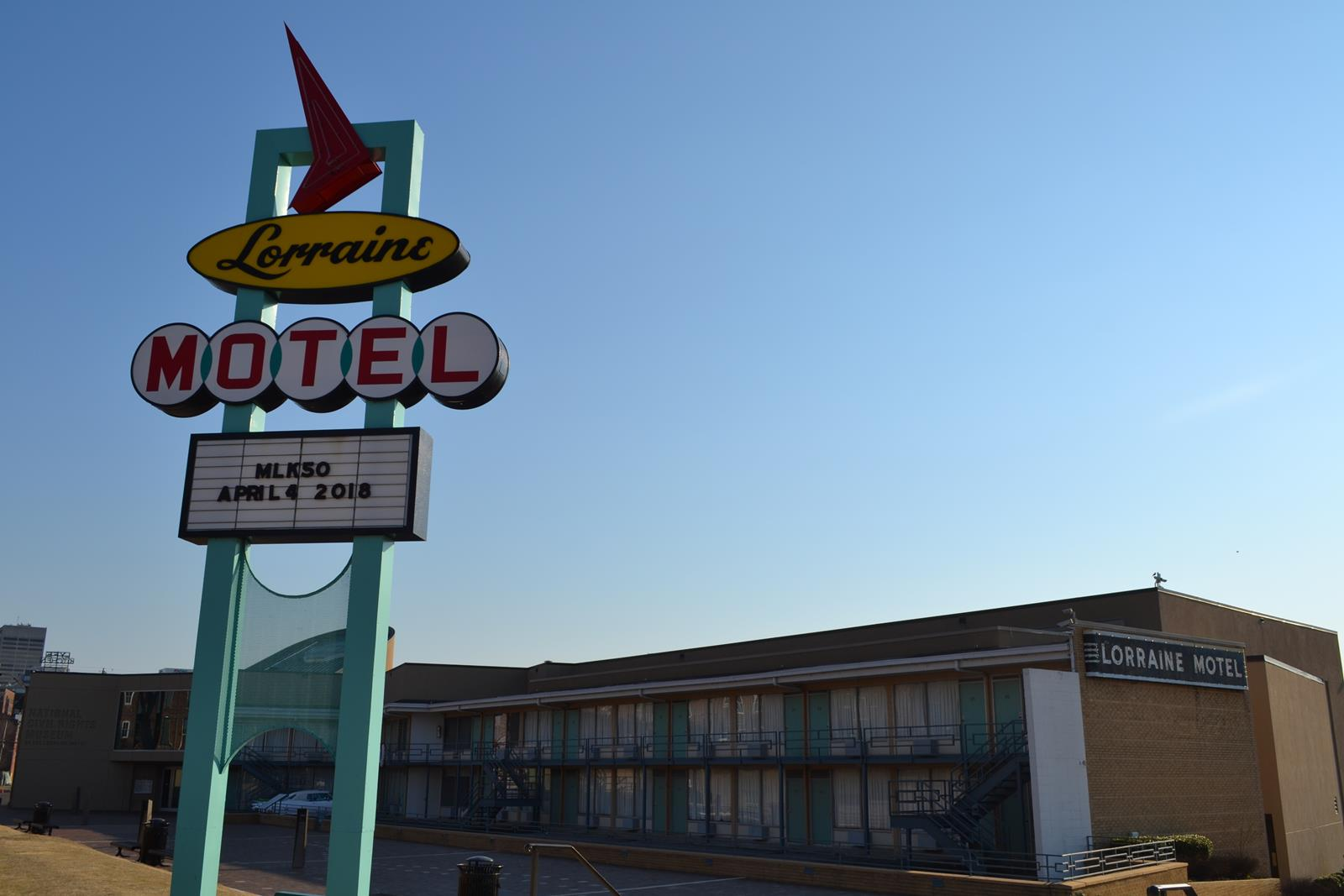 The Lorraine Hotel where Dr. Martin Luther King was shot is now a part of the National Civil Rights Museum.