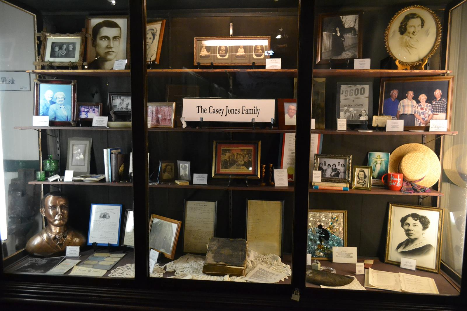 Many artifacts from Casey Jones' family are displayed at the Casey Jones Museum in Jackson, Tennessee.