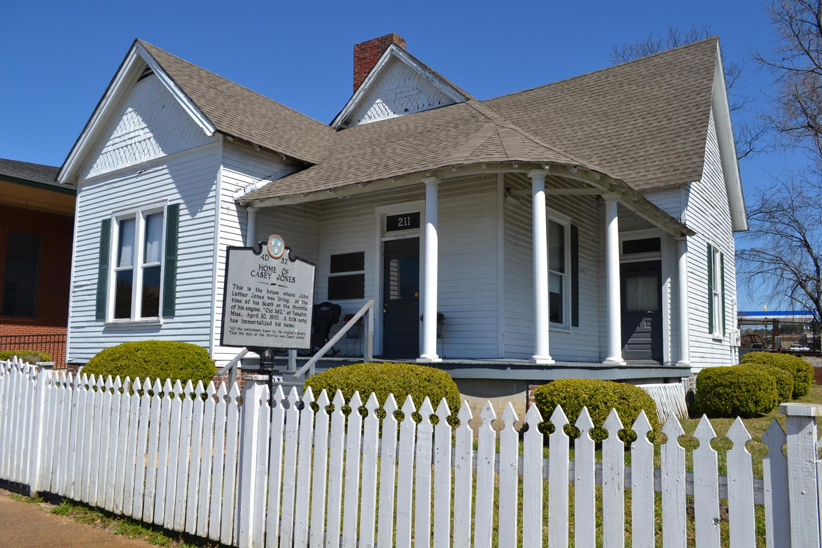 Casey Jones' house of 1900 is part of the Casey Jones Museum in Jackson, Tennessee.