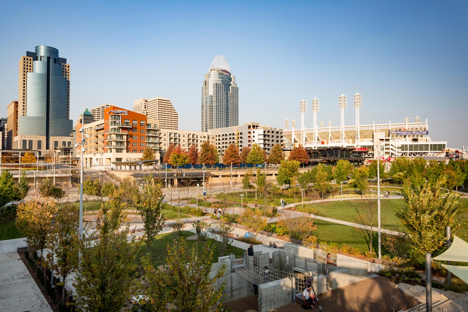 Smale Riverfront Park and Banks in Fall