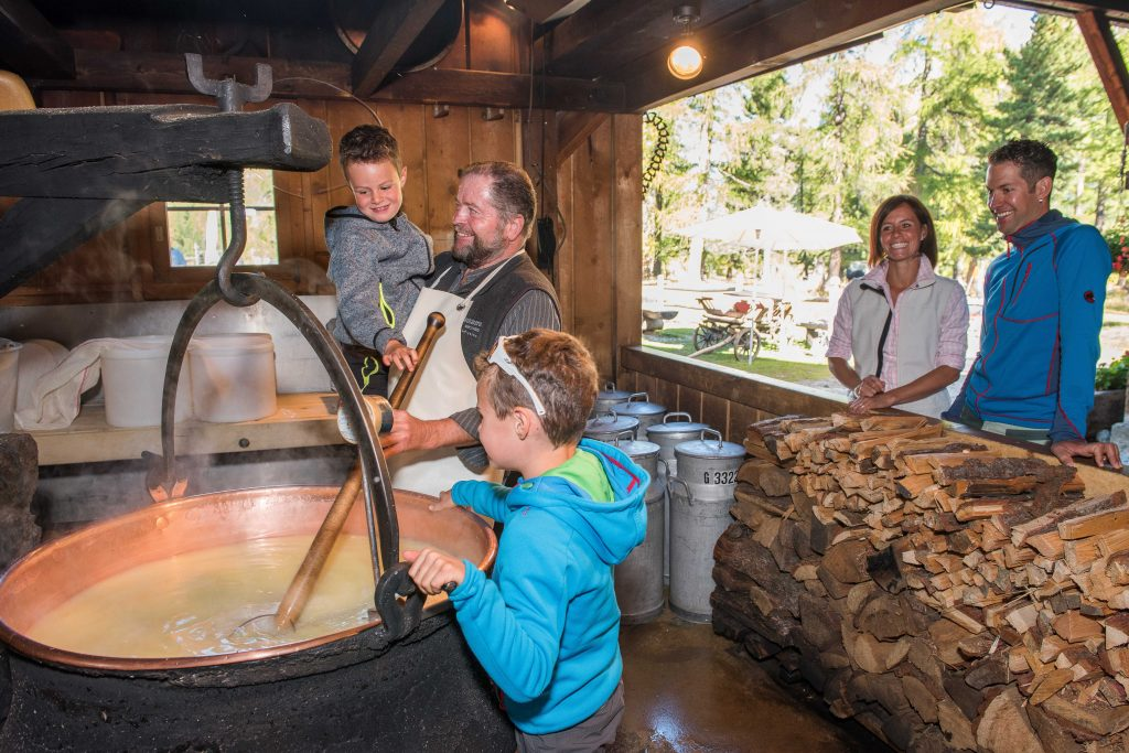 Visitors enjoy demonstrations at the Morteratsch Alpine cheese-making dairy. Photo Credit Here Engadiner Nusstorte (nut tart) is made from buttery pastry, creamy caramel and walnuts. Engadin St. Moritz The chocolate atMax Chocolatier in Lucerne is second-to-none. Andre Meier Romano Salis