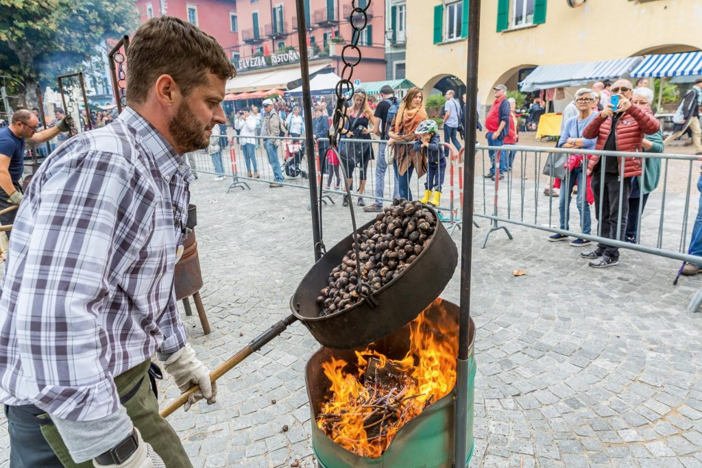 The Chestnut Festival in Ascona always draws a crowd. - swiss festival