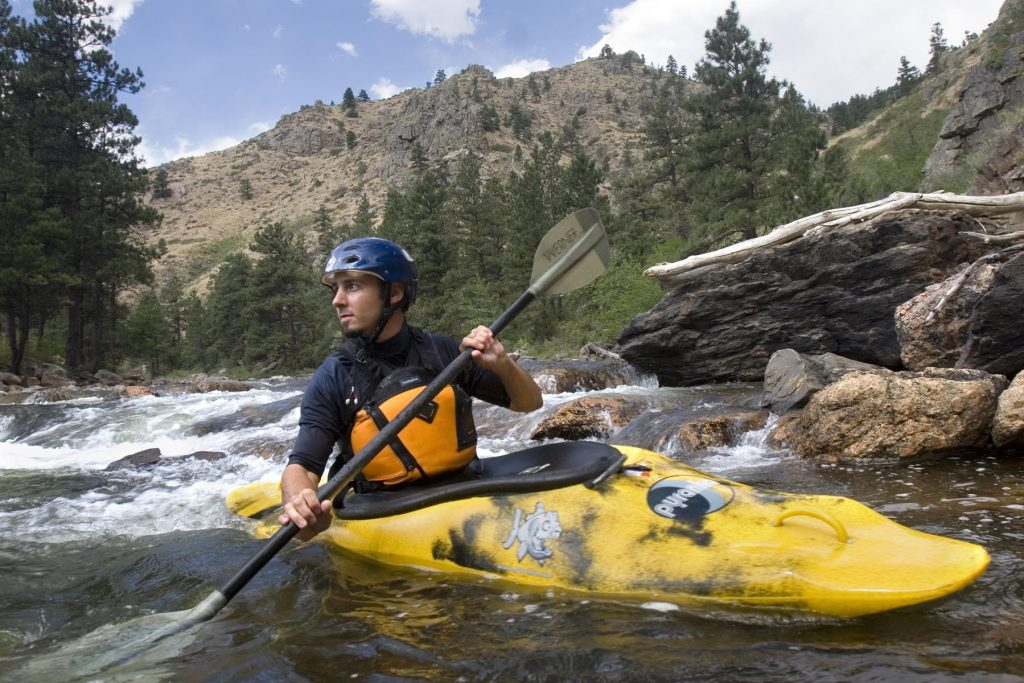 Kayaking the Cache la Poudre River near Fort Collins