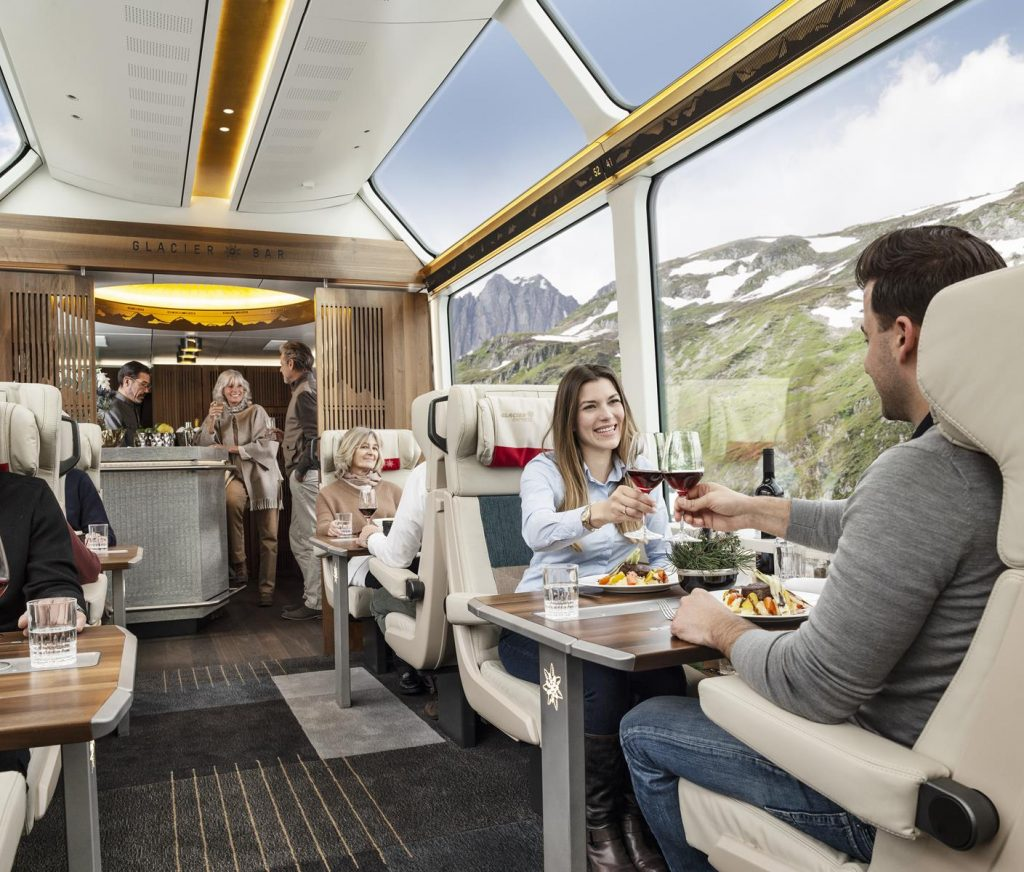 For high-end groups, Excellence Class is just the ticket on the Glacier Express. Switzerland Tourism