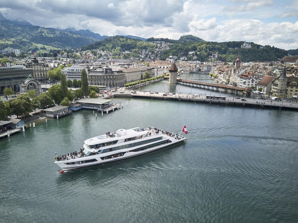 Lake Lucerne boats operate 365 days a year. Switzerland Tourism