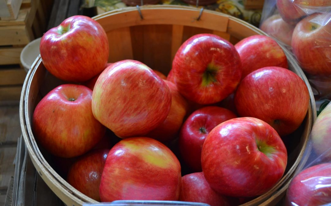 Apples on sale at Lautenbach's Orchard County Market & Winery