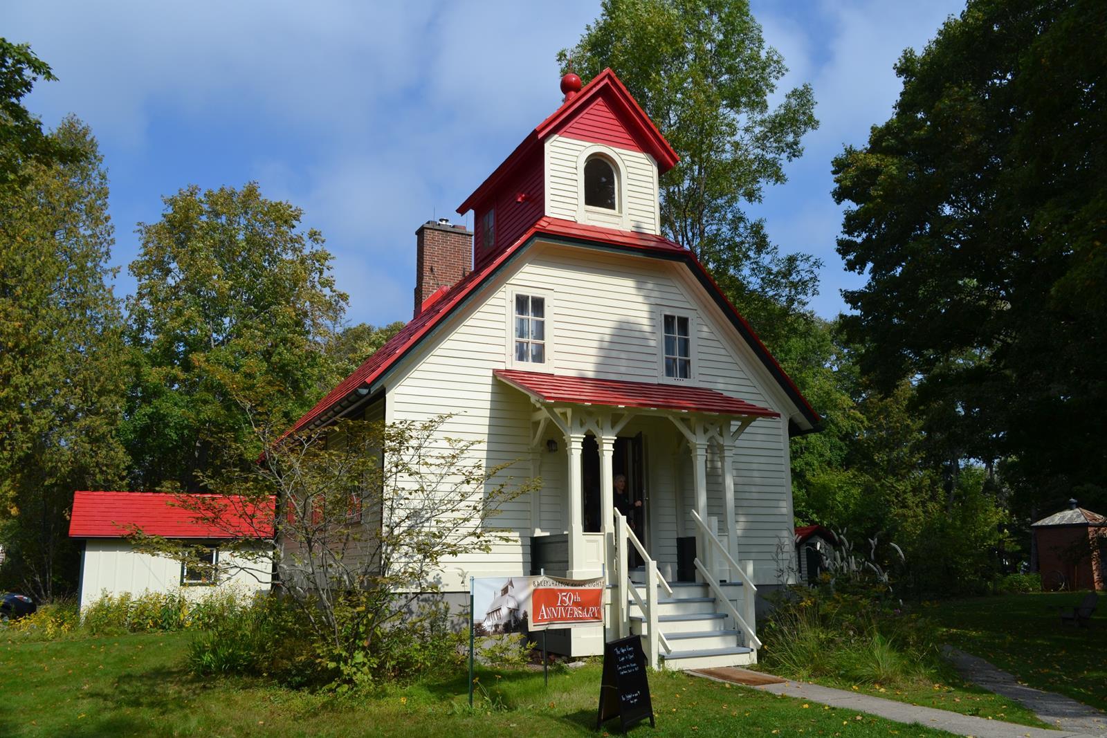 Upper Range Lighthouse in Door County has been restored and is open to visitors