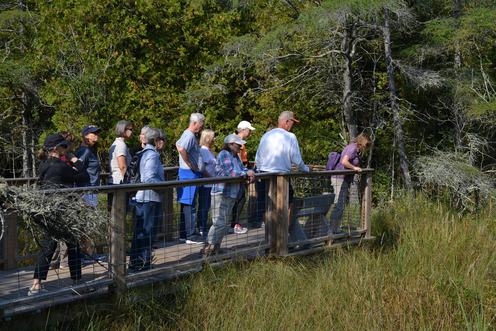 Group tours are available at Ridges Sanctuary where visitors learn about how Lake Michigan has shaped the shoreline (2)